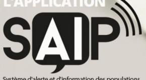 L'appli SAIP «alerte attentat» est disponible pour les mobiles